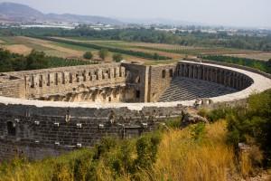 The Roman theatre in Aspendos, Turkey