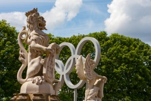 In front of Hampton Court Palace during Olympic Games 2012